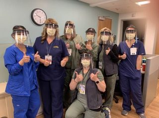 Nurses Wear MBK Face Shields
