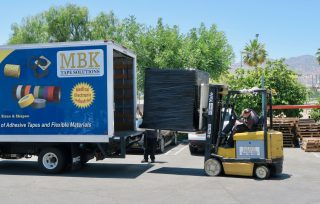 MBK Loading Finished Products